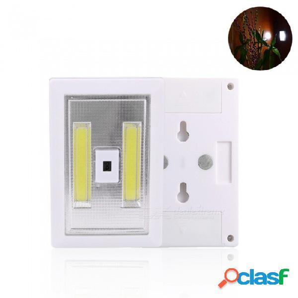Luz de noche mini cob led portátil, lámpara de pared con sensor de movimiento, pequeña lámpara de emergencia para el dormitorio del pasillo blanco / blanco