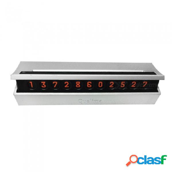 Número de estacionamiento temporal placa oculta del automóvil tarjeta de teléfono móvil movimiento diy matrícula