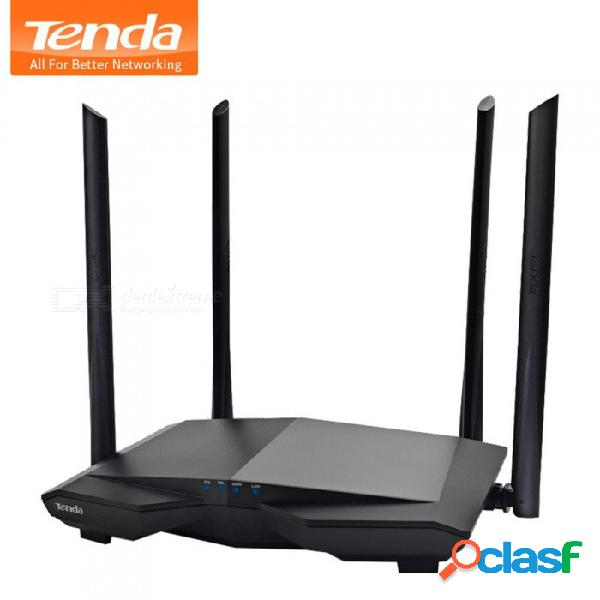Tenda ac6 1200mbps router inalámbrico wifi banda dual 2.4ghz / 5.0ghz 11ac repetidor wifi inteligente app control remoto firmware inglés