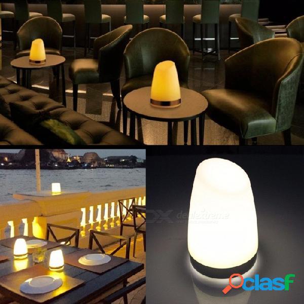 Usb recargable led ktv bar mesa escritorio lámpara creativa noche luz cafetería decoración de la mesa lámpara de luz de camping blanco cálido / blanco