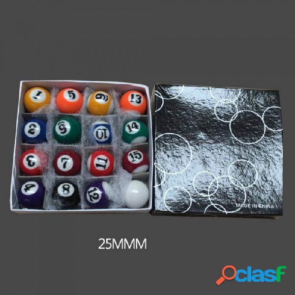 Bolas de mesa de billar para niños de alta calidad juegos completos 25mm / 32mm / 38mm resina bolas de billar pequeñas de billar 38mm