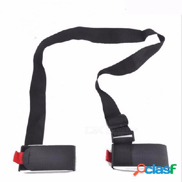 Esquí snowboard bag carrier asa de mano correas esquí de montaña cinturón de esquí skiboard snowboard binding protection pole tie negro