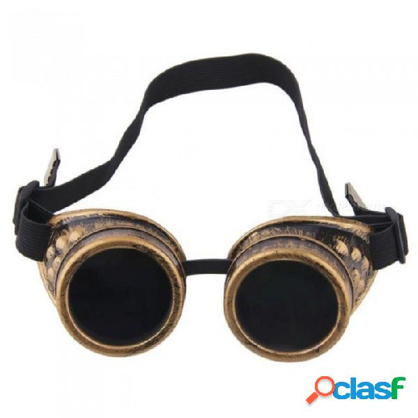 Steampunk gafas vintage retro soldadura punk gafas de sol góticas moda retro steampunk gafas cibernéticas gafas