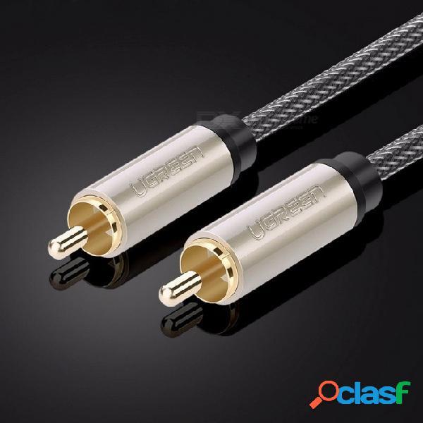Uca trenzado de nylon masculino rca al cable coaxial macho rca, cable de audio y video rca estéreo para amplificador de tv para el hogar 10 m / 1m