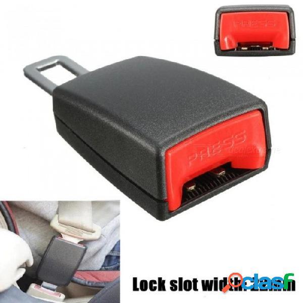 22 mm auto universal del cinturón de seguridad del coche clip de hebilla extensor de toma de coche hebillas de cinturón de seguridad de extensión negro