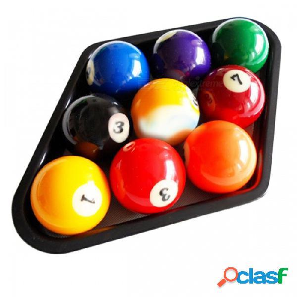 "Billar de plástico duradero mesa de billar de 9 bolas mesa de billar de alta calidad rombo negro apto para bolas de tamaño estándar de 2 1/4"" negro"