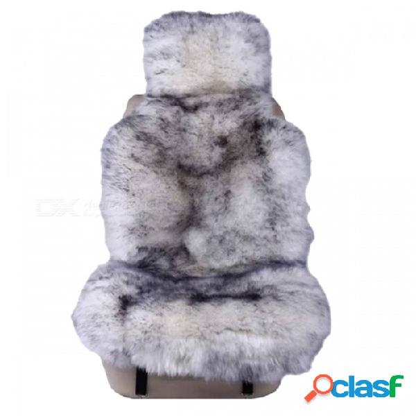 Cojín de la cubierta del asiento de coche de la piel de oveja australiana 100% natural de la piel caliente para el invierno - negro blanco