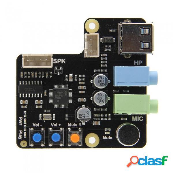 Geekworm frambuesa pi x350 entrada de micrófono / entrada de audio & tarjeta de audio usb de salida para pc / raspberry pi 3 modelo b + (más) / 3b / 2b / b