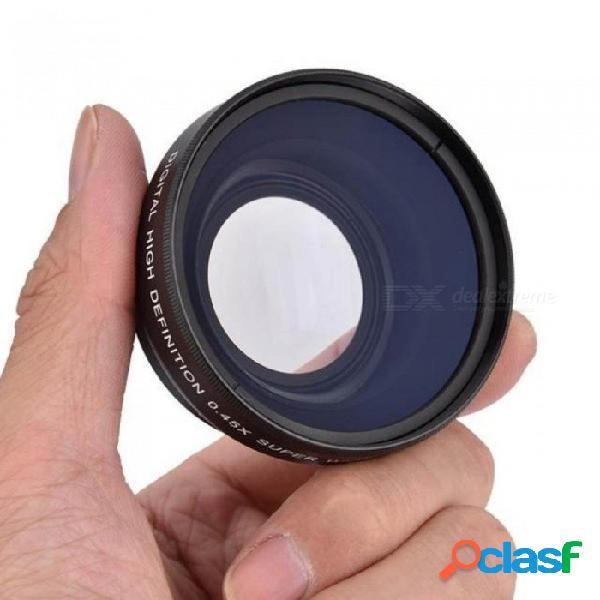 Lente macro de conversión universal para lente gran angular de 52 mm 0.45x para canon nikon para cámara réflex digital sony dslr universal 4/3
