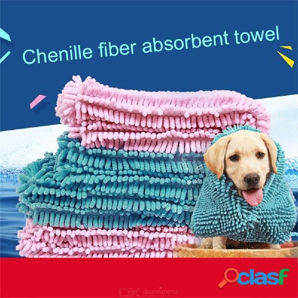 Multiusos toalla de secado de mascotas ultra absorbente perro perrito manta de baño fibra chenilla toalla limpia producto para mascotas