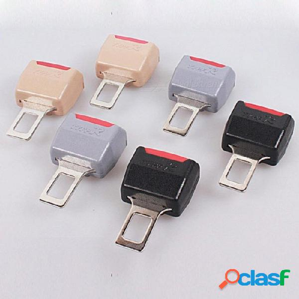 Universal del cinturón de seguridad del clip del cinturón de seguridad del auto negro gris beige cinturones de seguridad enchufe para 1 pcs multi colores opcionales negro