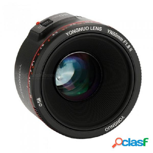 Yn50mm f1.8 ii lente de enfoque automático de gran apertura para canon efecto bokeh lente de cámara para canon eos 70d 5d2 5d3 600d canon dslr