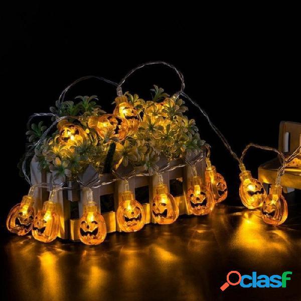 10 led que cuelga la decoración de halloween calabazas fantasma araña cráneo led luces de cadena linternas lámpara para el hogar de diy suministros para fiestas al aire libre 1