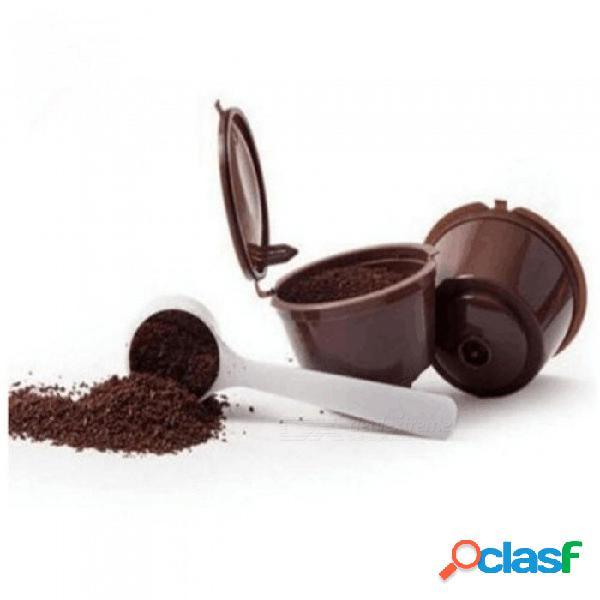 3 unids cestas de filtro de café cápsulas reutilizables recargables cápsula de nescafe taza cafeteira dolce gusto tapas de cápsulas de café