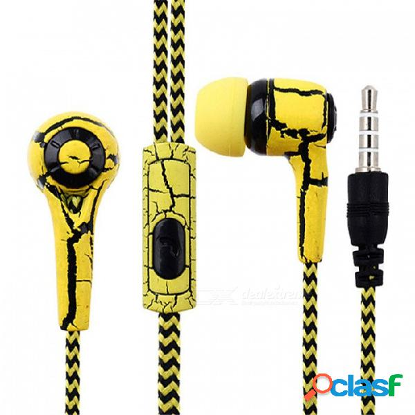 Auricular estéreo con cable para auriculares ojade de 3,5 mm con micrófono para iphone xiaomi huawei samsung