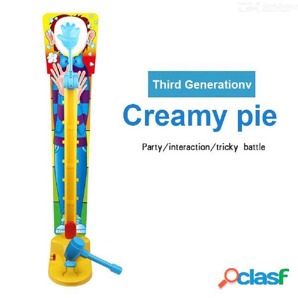 Gente doble pastel crema cara juego divertido gadget niños novedad juguete interactivo juego familiar