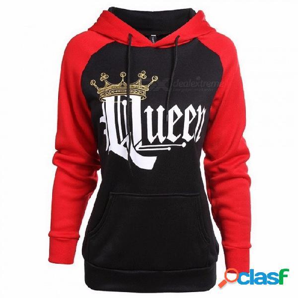 Reina rey sudaderas con capucha pareja ropa deportiva chándal gimnasio entrenamiento físico ejercicio suéteres mujeres imprimir sudaderas multi