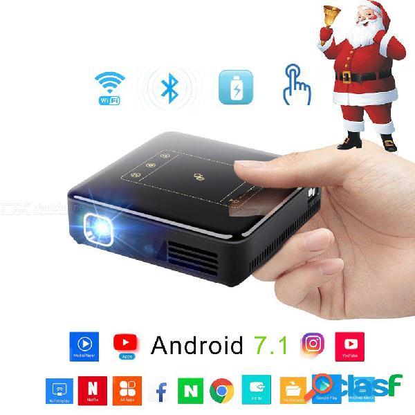 150 ansi lúmenes dlp proyector android 7.1 bluetooth 4.0 mini proyector full hd 4k para cine en casa proyector de 300 pulgadas