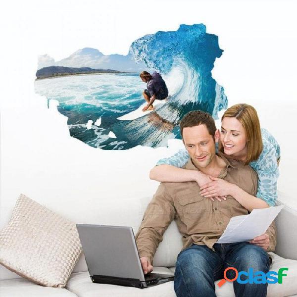 3d surf pegatinas de pared fondo artístico sala de estar sofá dormitorio baño pegatinas pvc decoración del hogar tatuajes de pared 3d surf pegatinas de pared