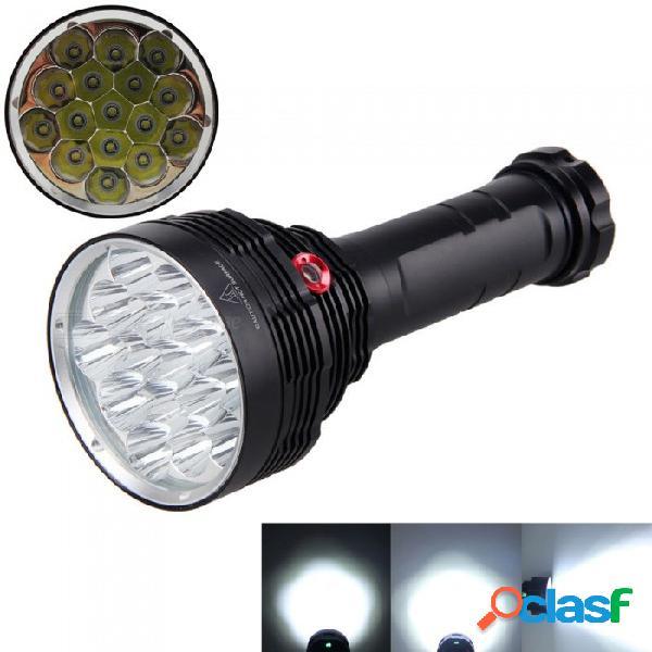 Aibber tone 15000 lumen 3-modo 16xxmlcree-t6 led lámpara de linterna fuerte, linterna táctica de caza