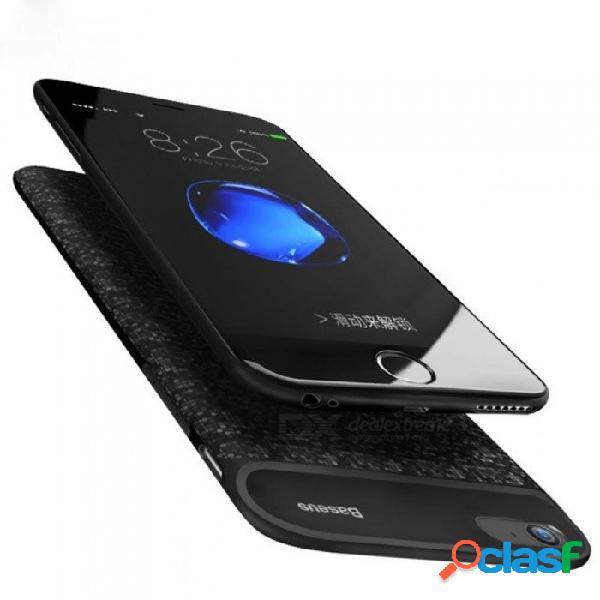 Caja de batería 5000/7300 mah para el caso de carga del banco de la energía del iphone 6 para el cargador de batería del iphone 6 s 6s cubierta de la caja p 7300 para i6 más