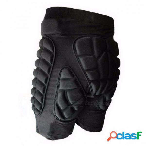 Deportes pantalones cortos de snowboard de cadera protectora inferior acolchada para esquí y patín de ruedas y snowboard pad de protección de la cadera engranajes deportivos xxxl / negro