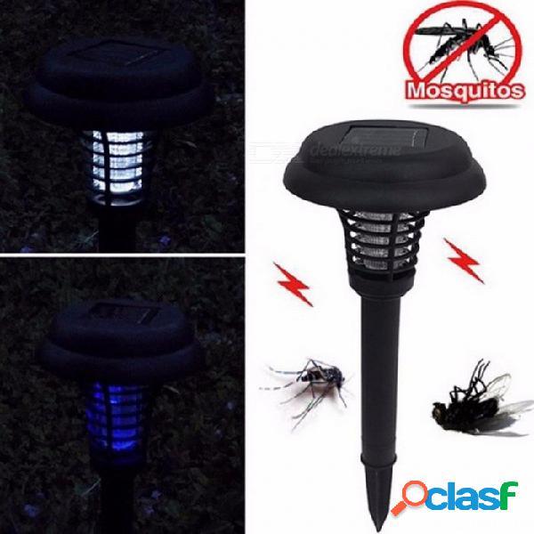 Energía solar al aire libre parque jardín césped contra mosquitos insecto plaga insecto zapper asesino atrapando linterna decoración lámpara luz negro