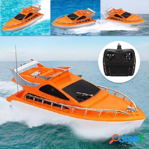 Naranja mini rc barcos de plástico control remoto eléctrico lancha rápida niños niños juguete 26x7.5 x 9 cm color naranja 26 * 7.5 * 9 cm