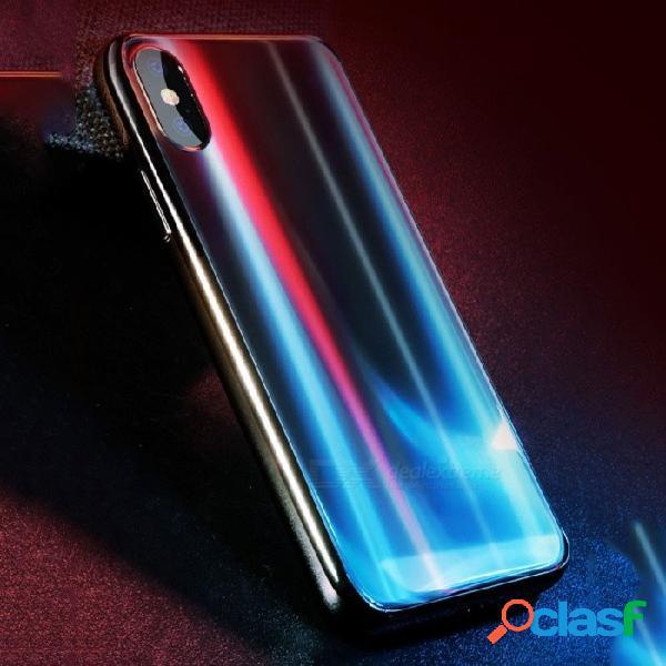 Funda blanda de tpu aurora deslumbrante a todo color de baseus, cubierta trasera protectora para iphone x negro / pc + tpu