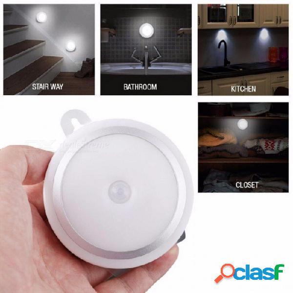 Mini luz led inalámbrica estupenda estupenda del sensor de movimiento del led, lámpara de la cocina del cajón del guardarropa del gabinete de pared - luz blanca
