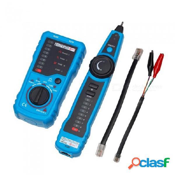 Tóner trazador del rastreador de cables telefónicos zhaoyao, detector de línea del detector de cables de red lan de ethernet