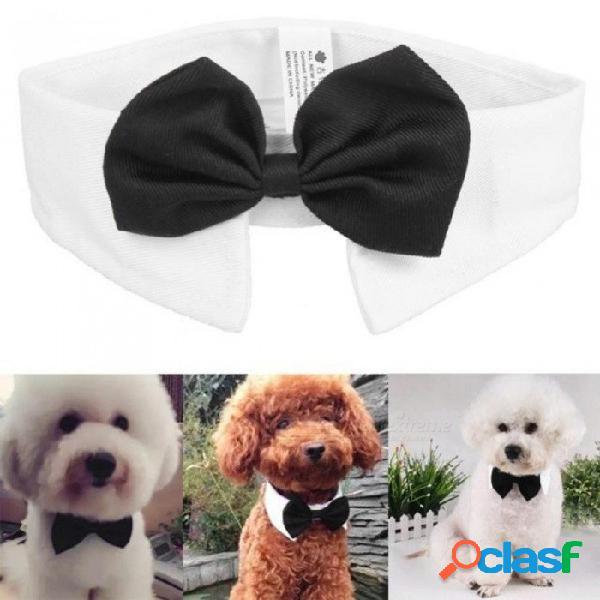 Caballero perro pajaritas mascota pajaritas ajustable perro gato corbatas arco mariposa corbata corbata pajarita collar accesorios para mascotas negro