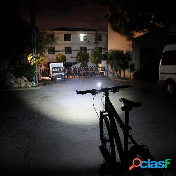 Luz led para bicicleta cob, lámpara de linterna delantera trasera con casco trasero, faro impermeable aaa de 2 modos para ciclismo al aire libre negro
