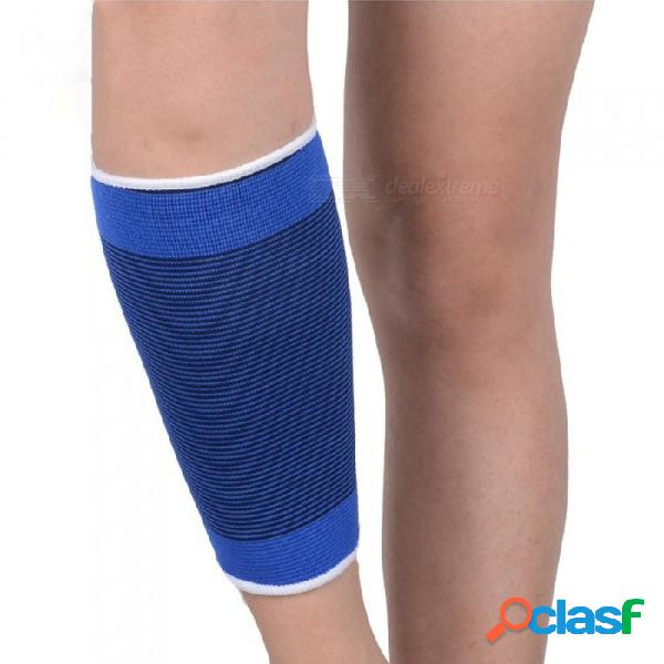 1 par transpirable tejido de punto elástico manga de la pierna de punto cálido punto inferior de la manga de la pierna para baloncesto y fútbol azul / talla única