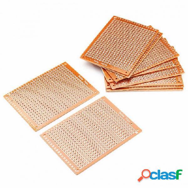 10 unids kit de placas de circuitos electrónicos, placa de fototipo de lado único de bricolaje universal bricolaje placa de tablero de circuitos impresos pcb amarillo