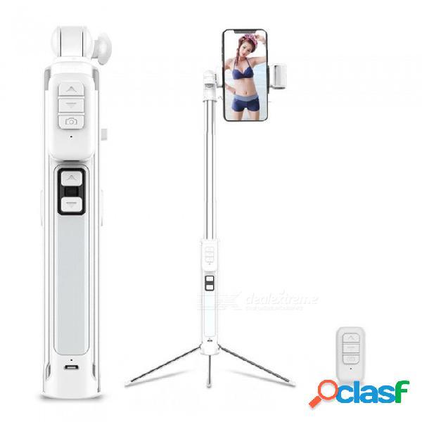A18 universal mini luz de relleno bluetooth selfie stick / varilla del disparador automático con trípode y control remoto extraíble negro