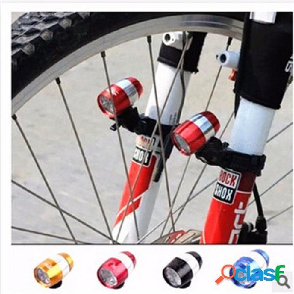 Bicicleta de ciclismo exterior luz delantera luz trasera 360 grados de rotación 2-modo 6 led bicicleta luz accesorios de bicicleta