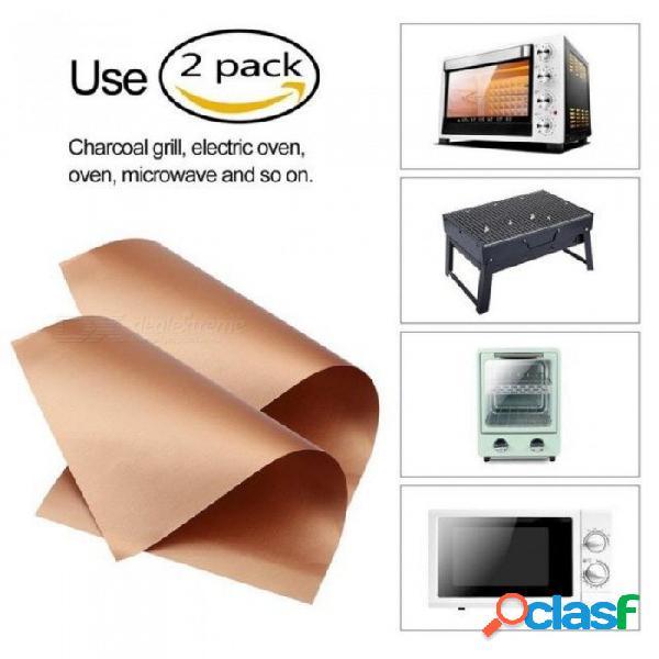 Cocina, cocina de cobre, parrilla y estera para hornear, herramienta para barbacoa al aire libre para asar asado (2 pcs)