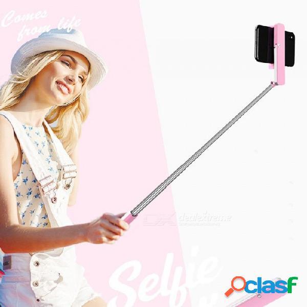 M1 mini bluetooth plegable selfie stick, barra de disparador automático de bolsillo de mano para teléfono móvil negro