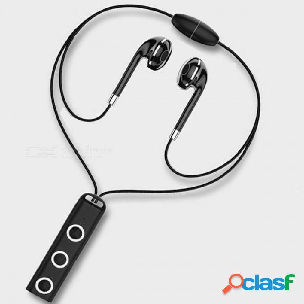 Magnético auricular inalámbrico bluetooth auriculares auriculares estéreo deporte corriendo auriculares auricular con micrófono para teléfono inteligente negro