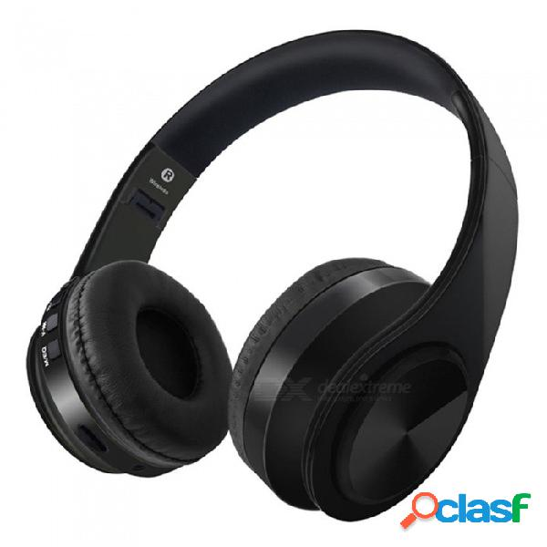 Vrrobot btd4 bluetooth v4.1 auriculares inalámbricos, auriculares estéreo, auriculares plegables graves graves - negro