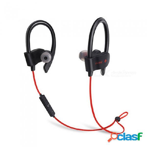 Auriculares bluetooth deportivos con bajos pesados, auriculares ultraligeros, auriculares bluetooth con micrófono universal para teléfonos inteligentes