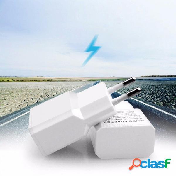 Cargador de teléfono móvil 5v 2a cargador de teléfono adaptador cargador cargador usb enchufe de la ue adaptador de corriente cargador de pared para samsung blanco / eu