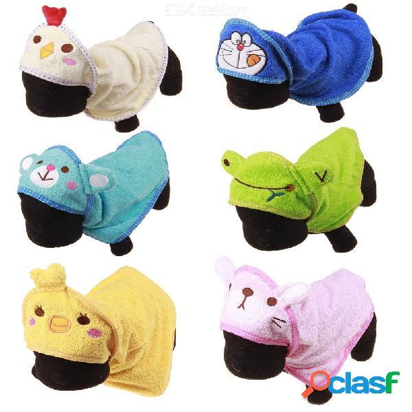 Lindo perro mascota suave sudaderas con capucha de secado toalla de baño para perro gato cachorro súper absorbente albornoces