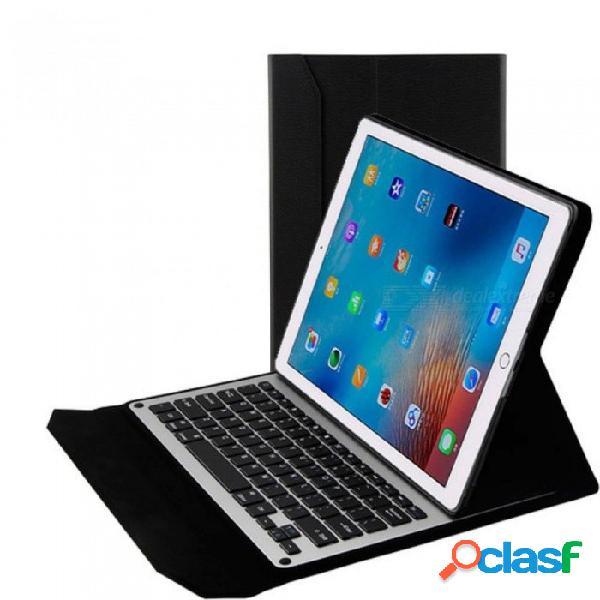 teclado inalambrico inalambrico ultradelgado para ipad pro 12. 9 tabletas folio PU funda de cuero con soporte dorado