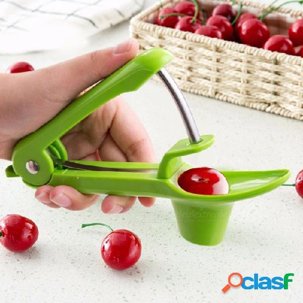 Acero inoxidable abs aceitunas cerezas fechas rojas dispositivo de extracción de núcleo agarre fácil herramienta vegetal vegetal herramienta de extracción de frutas