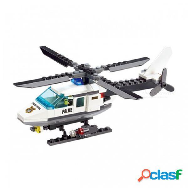 Los ladrillos de las unidades de creación del helicóptero diy de los aviones 102pcs fijaron el juguete para los niños