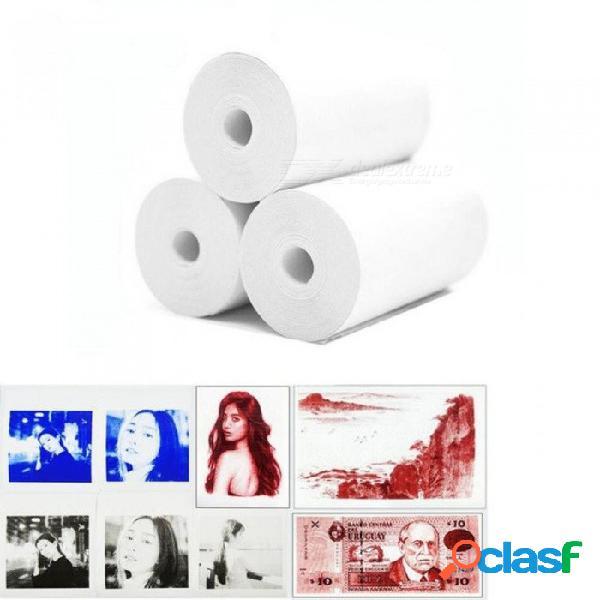 Papel nuevo y memobird papel de impresión en color imprimir mostrar azul rojo negro 57 * 30 papel de impresión fotográfica térmica 3 volúmenes enviar negro