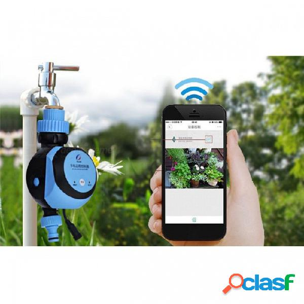 Temporizador electrónico automático inteligente de agua, teléfono inteligente control remoto de riego sistema de riego válvula de solenoide