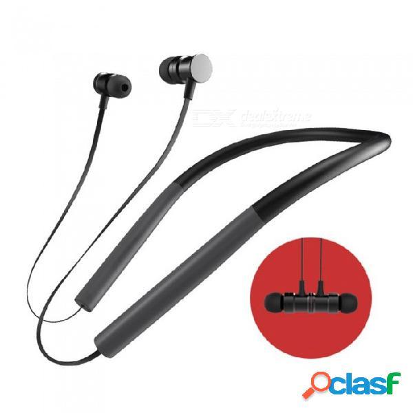Auricular bluetooth micrófono incorporado bluetooth ligero banda para el cuello deporte auriculares auriculares estéreo para teléfono negro